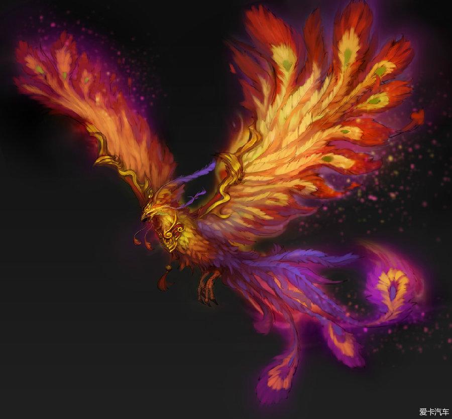 凤凰翅膀背景素材