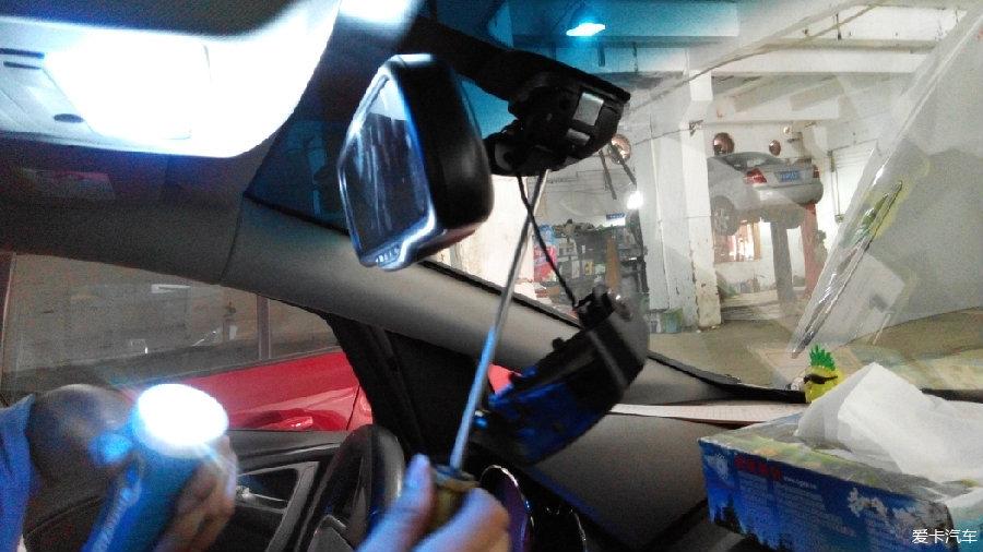 老英朗gt增加作业记录仪行车(安装白天晚上行监狱视频女娼图片