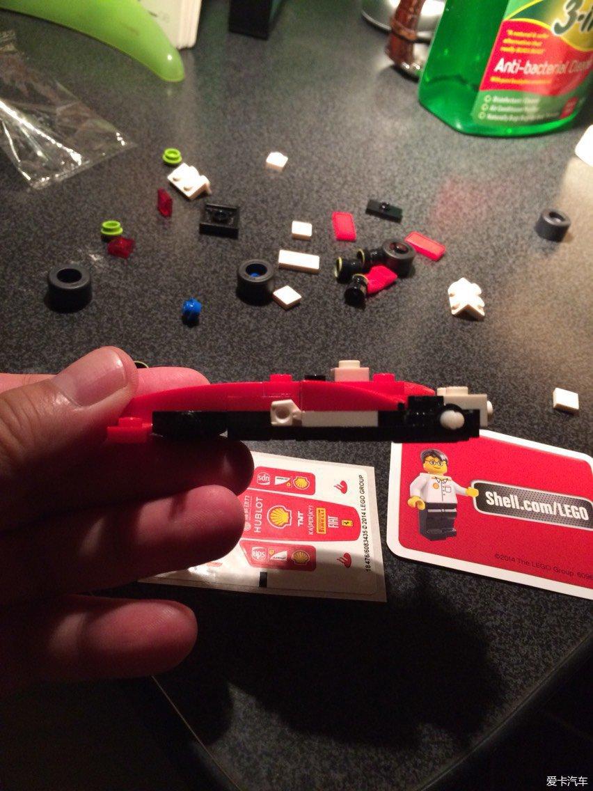 壳牌加油的乐高玩具,连夜拼装好