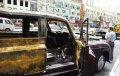 上海:山寨劳斯莱斯婚车街头自燃烧成废铁