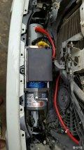 三菱V93加装绞盘