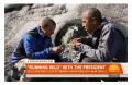 这一期的《荒野求生》贝爷居然生火了,看来还是照顾奥巴马啊