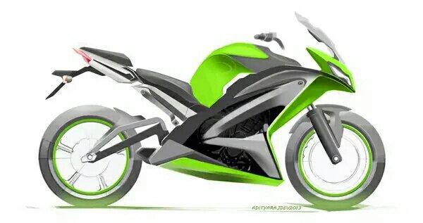 最炫酷的摩托车设计手绘图