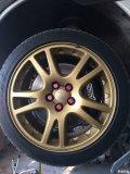 7代STI原厂轮毂,5X100下金黑B,版主留步