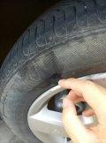 轮胎挂了侧面,大家看看需要换吗