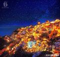 爱琴海圣托里尼的夜晚,真的迷人~好想去