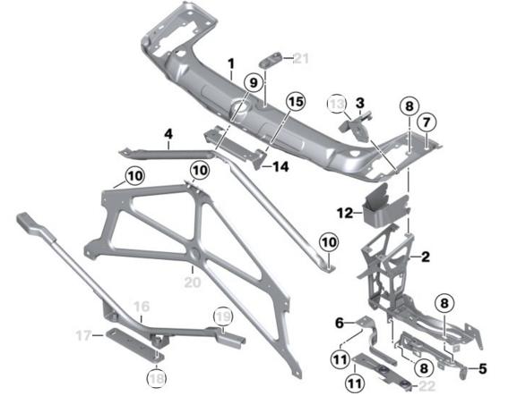 锐志水箱框架结构图