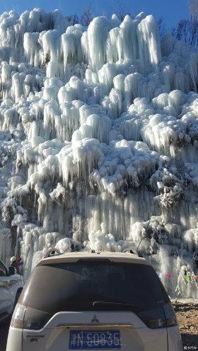 周末自驾出游看山看冰瀑