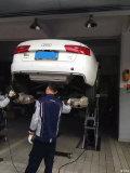【昆明奥迪A6L改W12方口排气】改装A6L排气管