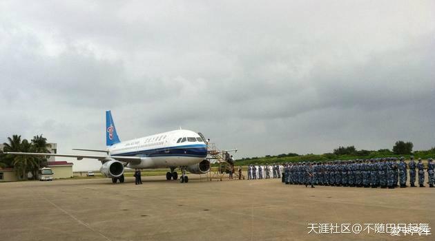 第一架民航飞机降落永暑岛机场~~~~~