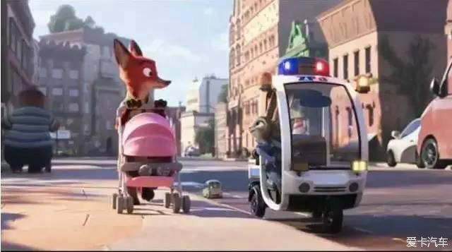 小兔子朱迪开的小警车
