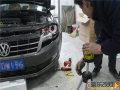 青岛晓东专业汽车灯光改装大众朗逸改装氙气灯车灯加装天使眼