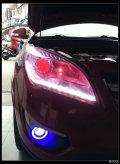昆明汽车灯光升级-长安CS35改欧标Q5透镜恶魔眼,好妖艳!
