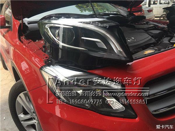 成都奔驰GLA200运动型卤素大灯升级260豪华