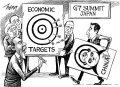 """纽约时报:G7峰会安倍拿中国做""""靶子""""(漫画)"""