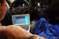 长沙江波汽车音响改装长安CS75-改装中的苹果机时尚真音质