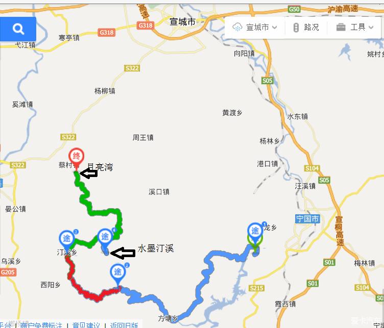 号称皖南川藏线的一段就是板桥乡