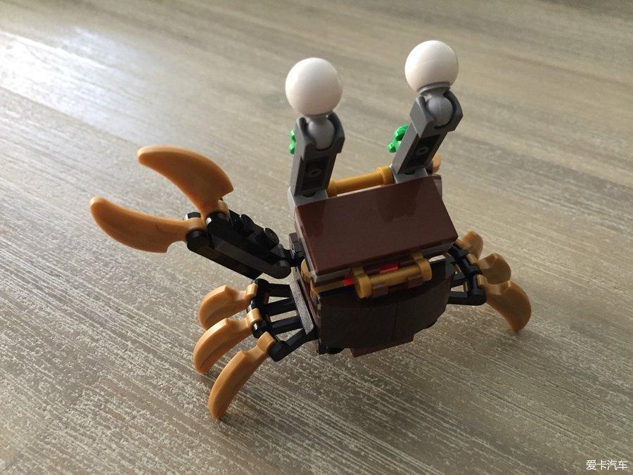 LEGO41568小图纸_乐高螃蟹_XCAR爱卡汽实心表示标高什么三角形红世界图片