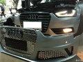 奥迪A4L改装RS4包围,运动方向盘运动球档杆,镀铬银耳