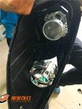 丽星改灯太原车灯改装保时捷卡宴大灯升级海五双光透镜