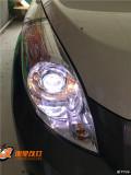 山西改灯太原丽星改灯哈弗M2大灯升级改装双光透镜氙气大灯