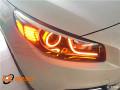 太原丽星改灯起亚K4大灯升级改装双光透镜韩版LED日行灯