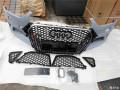 奥迪A4L改装升级RS4前后杠中网改装作业