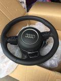 嘉兴卡程汽车改装奥迪A4L三幅方向盘S4四出排气RS4前包围