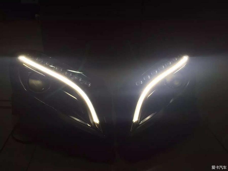 奔驰GLA200改装前大灯、奔驰GLA升级车灯、