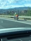 刚说摩托车上高速今天云南看到的