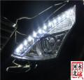 【邢台永诚改灯】天籁升级Q5透镜套装+黄金眼雾灯,专业改装