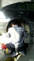 1.6L换刹车片刹车油后避震缓冲胶套。