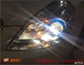 太原丽星车灯改装别克凯越大灯改装海五双光透镜