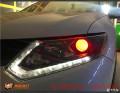 奇骏大灯改装定制版海五双光透镜太原改装汽车灯光太原改车灯