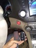 汉兰达一键启动升级手机启动,红色启动按键
