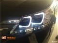 太原丽星车灯改装本田CR-V换LED日行灯氙气大灯总成