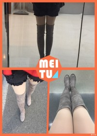 冬日里的大白腿,美美哒,哈!