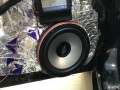惠州音乐时代马自达323汽车音响改装洛克力量653三分频