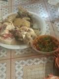 三亚海鲜,中午三人餐