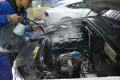 长沙奥迪Q5汽车美容镀晶+内饰清洗+发动机舱清洗+轮毂镀膜