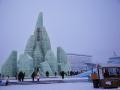 腊月里游哈尔滨观冰雕美景