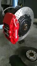 09款进口途欢改装AP9040刹车盘和KYB减震器