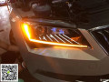 淮安陈工改灯斯柯达速派升级原厂高配LED日行灯氙气灯大灯总成