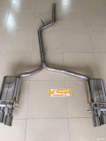 奥迪A4.45.运动版升级KSR中尾段S4四出阀门排气