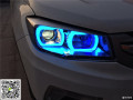 淮安陈工改灯长安CS75升级双光透镜氙气灯专用日行灯