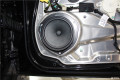 青岛汽车音响改装奔驰GLK300改装芬朗喇叭+超薄低音