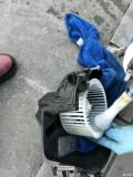 汽车空调清洗正在进行中