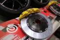 高尔夫7刹车改装BREMBOGT六活塞卡钳套装