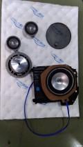重庆达轩宝马520汽车音响升级丹麦魔乐歌A63三分频套装喇叭