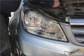 奔驰C200升级奥迪Q5双光透镜华科安定器奔驰C200改灯